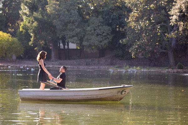 Romantisch Huwelijksaanzoek in Rome